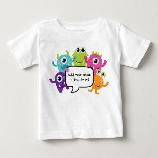Personalised Shirt/Romper - Little Monster Design Baby T-Shirt