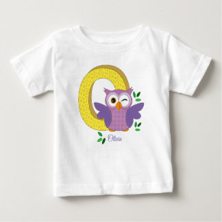 Personalised t-shirt - O for Owl