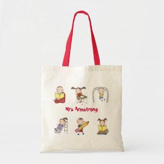 Personalised Teacher Tote Bag - Stick Kids