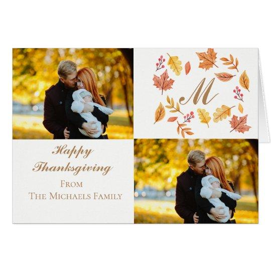 Personalised Thanksgiving Card | Custom Dual Photo