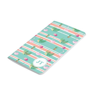Personalised Tropical Flamingo Pocket Journal