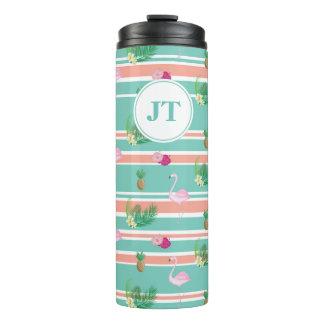 Personalised Tropical Print Thermal Flask Thermal Tumbler