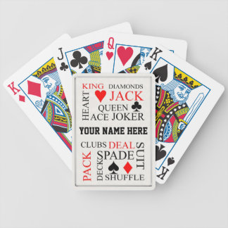 Personalised Typography Style Gift Playing Cards