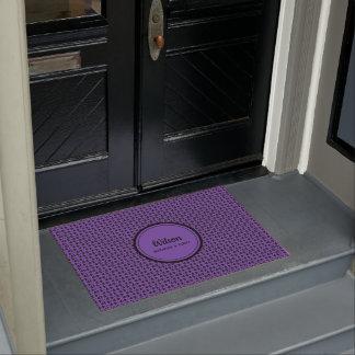 Personalised ulra violet geometric weave doormat