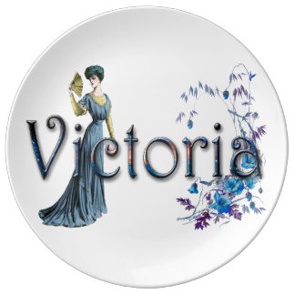 Personalised  `Victoria' design Porcelain Plates