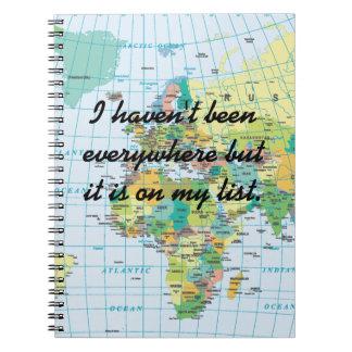 Personalised Vintage Map Notebook