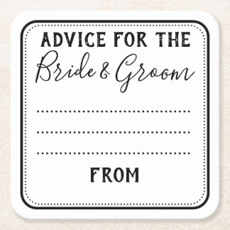 personalised wedding ADVICE coaster Thank you