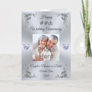 Personalised Wedding Anniversary Card with PHOTO