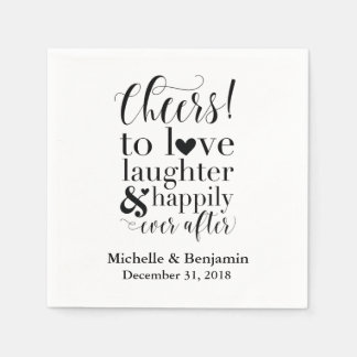Personalised Wedding Napkins - Cheers to Love