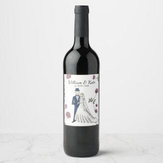 Personalised Wedding Wine Label