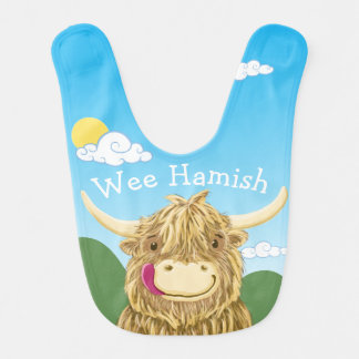 Personalised Wee Hamish Bib