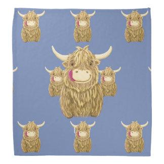 Personalised Wee Hamish Highland Cow Bandana