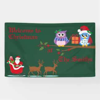 Personalised Welcome to Christmas Banner