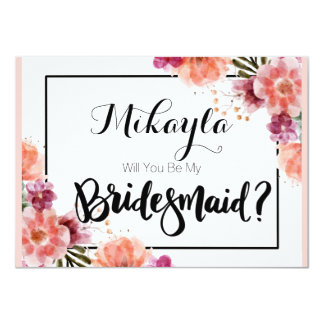 Personalised Will You Be My Bridesmaid Cards