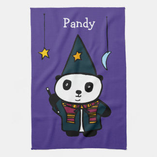 Personalised Wizard Pandy the Panda Kitchen Towel