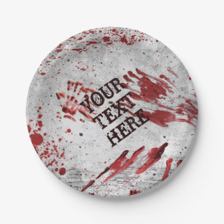 Personalised Zombie Blood Paper Plates