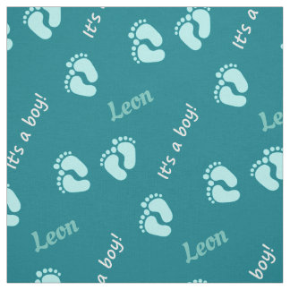 personalisierbare materials with name baby boy fabric