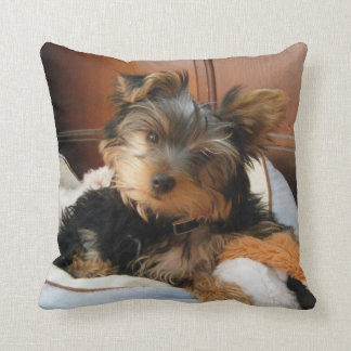 Personality Plus Yorkie Throw Pillow