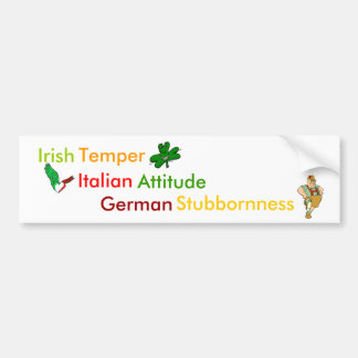 Personality Traits Associated w/ Heritage Bumper Sticker
