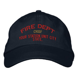 Personalizable Chief Firefighter Hat Baseball Cap