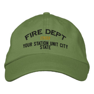 Personalizable Chief Firefighter Hat Embroidered Baseball Cap