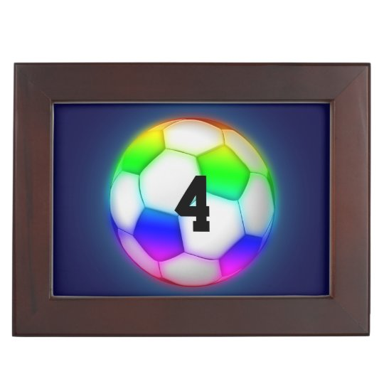 Personalizable Colourful Soccer | Football Memory Boxes