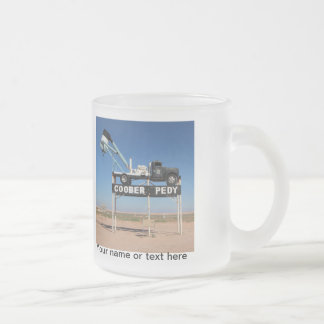 Personalizable Coober Pedy Outback Souvenir 10 Oz Frosted Glass Coffee Mug