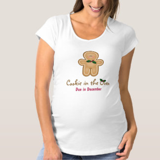 Personalizable Cookie in the Oven Due Date Maternity T-Shirt
