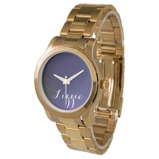 Personalizable Galaxy Golden Bracelet Watch