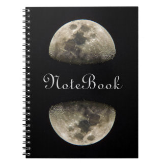 Personalizable Half-Moon Spiral Notebook