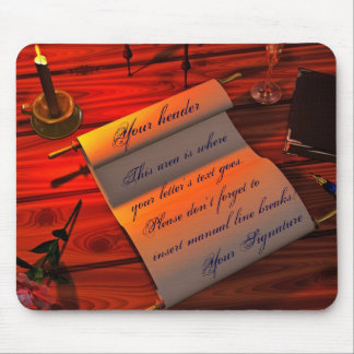 Personalizable Handwritten Letter Mouse Pad