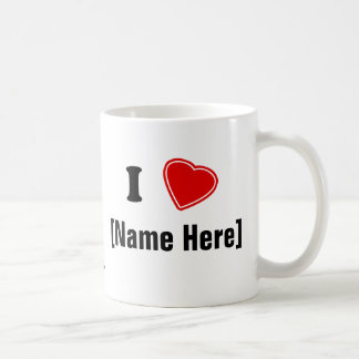 Personalizable I Love Coffee Mug