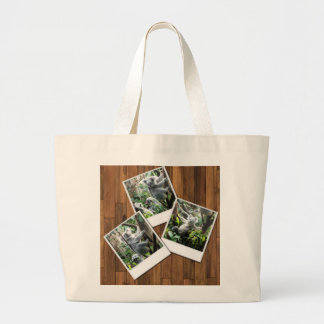Personalizable Instant Multi Photo Frame Large Tote Bag