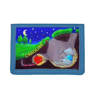 Personalizable Kids Wallet | Musician Mouse Wallet