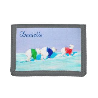 Personalizable Kids Wallet | Polar Bears Wallet