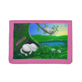 Personalizable Kids Wallet | White Bunny Wallet