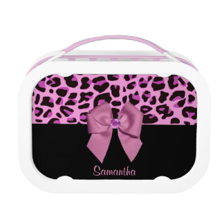 Personalizable Leopard Print Lunch Box
