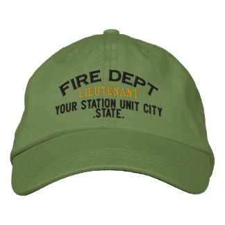 Personalizable Lieutenant Firefighter Hat Embroidered Baseball Caps