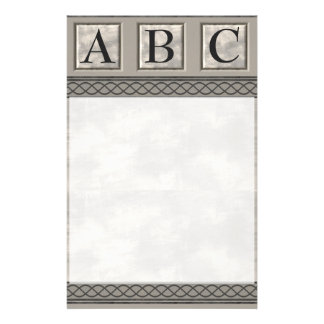 Personalizable Marble Monogram Stationery
