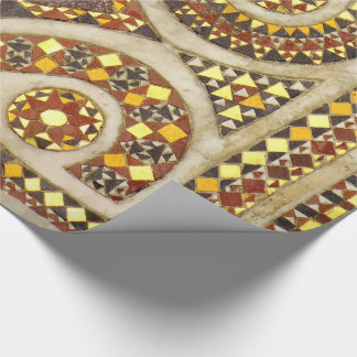 Personalizable medieval mosaics wrapping paper