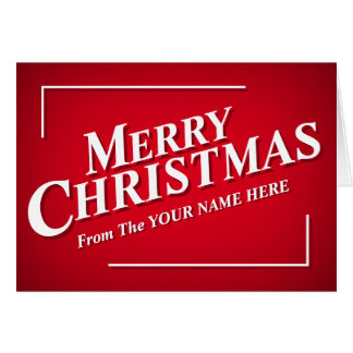 Personalizable Merry Christmas Greetings Card