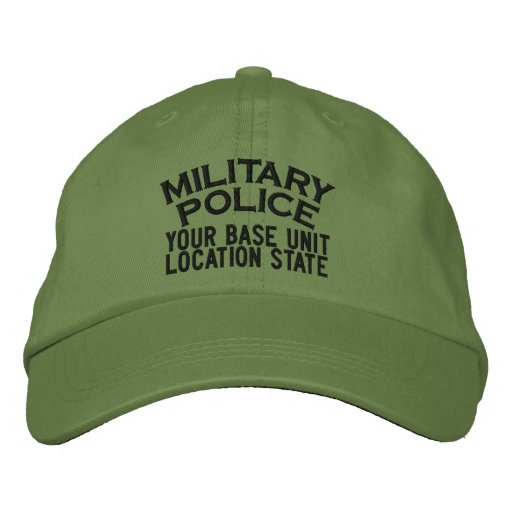 Personalizable Military Police Hat Embroidered Baseball Cap