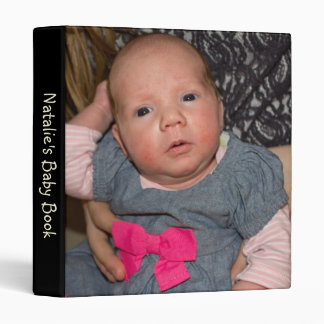 Personalizable Natalie's Baby Book with Photo Vinyl Binders