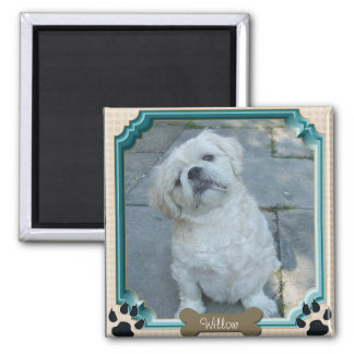 Personalizable Pet Frame 2 Inch Square Magnet