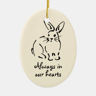 Personalizable Rabbit Memorial Ornament