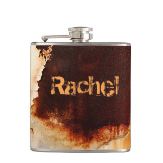 Personalizable Rust Art Cool Fun Unique Hip Flask