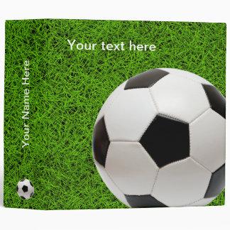 Personalizable Soccer   Football 3 Ring Binders