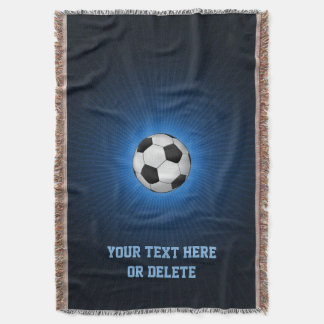 Personalizable Soccer | Football ball Throw Blanket