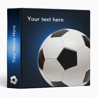Personalizable Soccer | Football on blue Binders