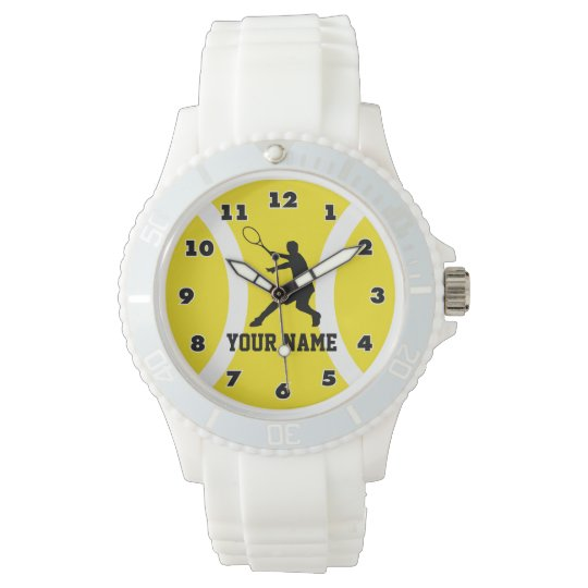 Personalizable sporty watch for tennis players